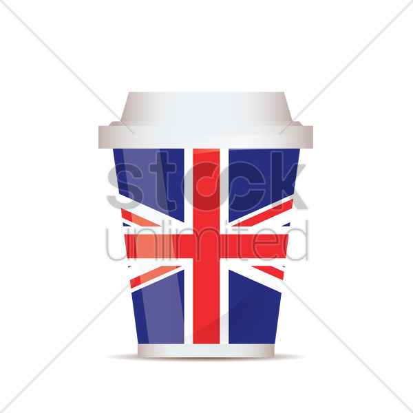 uk flag take away vector graphic