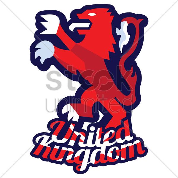 uk lion vector graphic