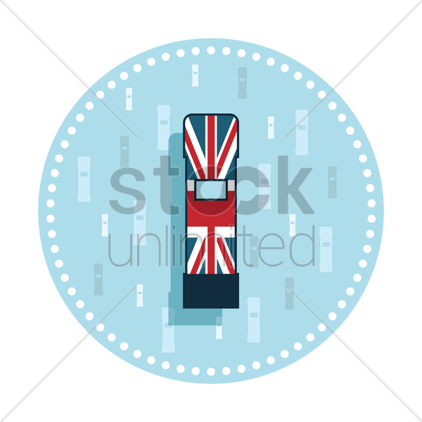 Free uk postbox sticker vector graphic