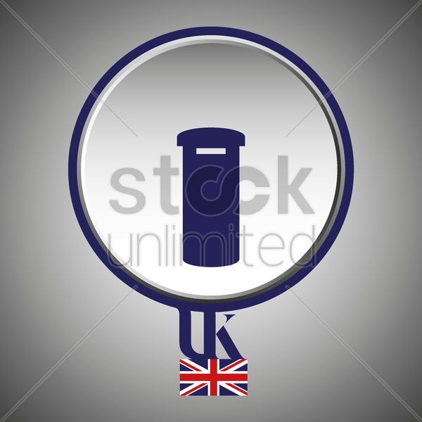 uk postbox vector graphic