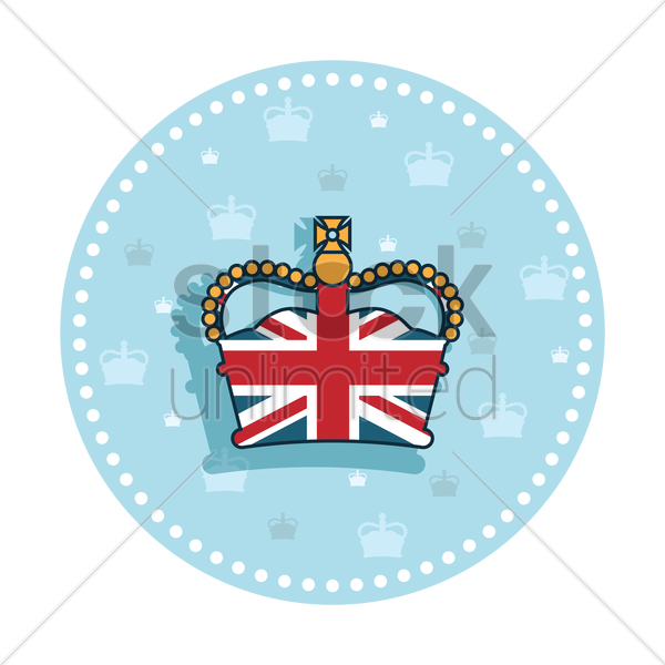 Free uk royal crown sticker vector graphic