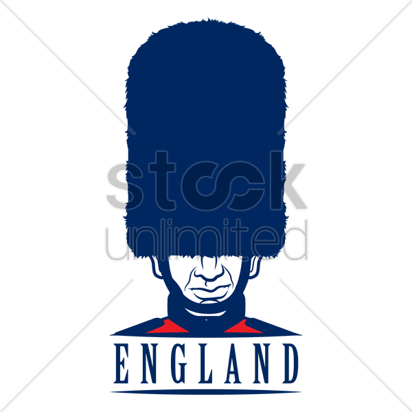 uk royal guard label vector graphic