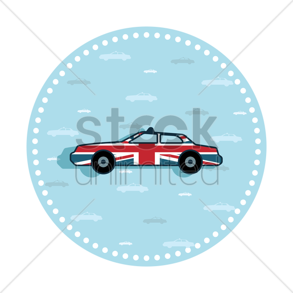 Free uk taxi sticker vector graphic