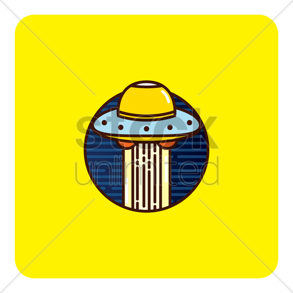 unidentified flying object vector graphic