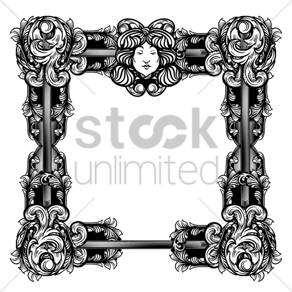 unique retro frame vector graphic