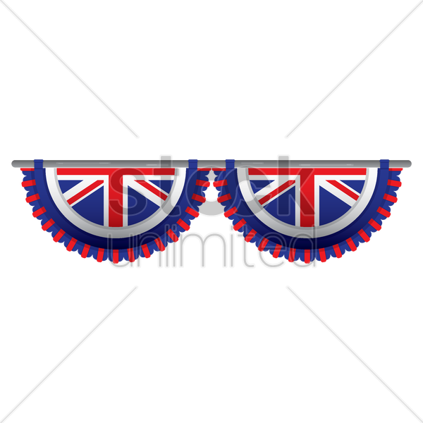 united kingdom flag bunting vector graphic