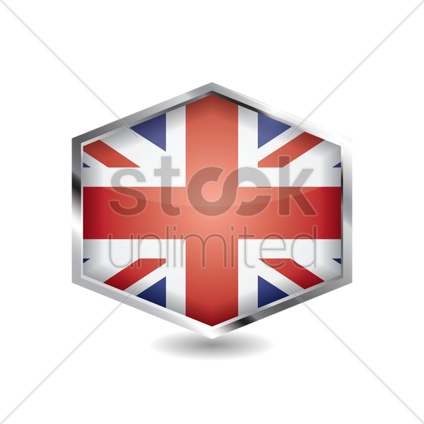 united kingdom flag icon vector graphic