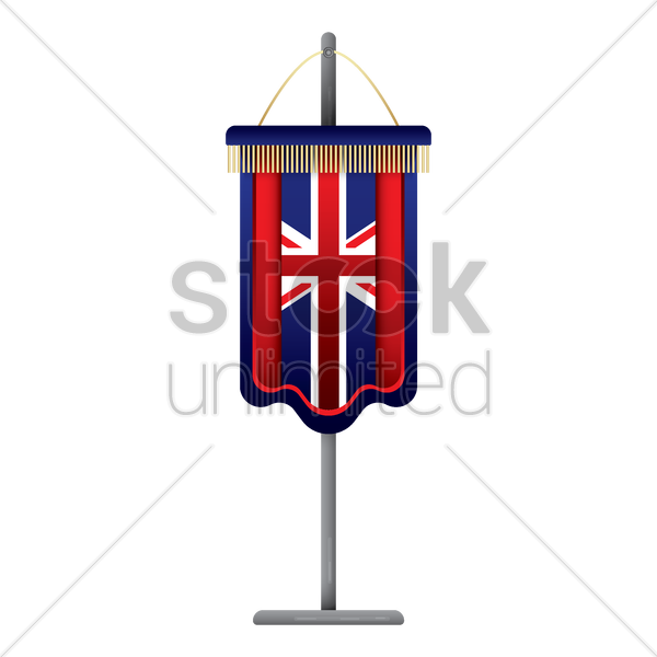united kingdom flag pennant vector graphic