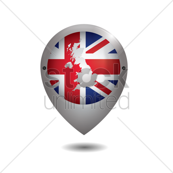 united kingdom map icon vector graphic