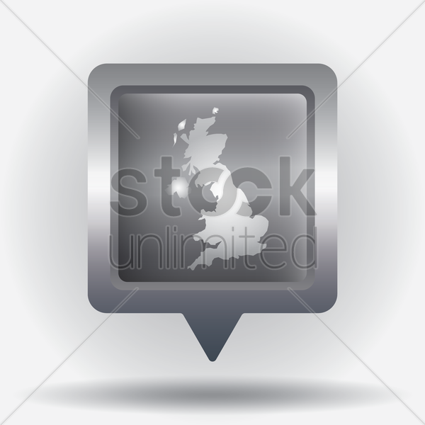 united kingdom map navigation pointer vector graphic