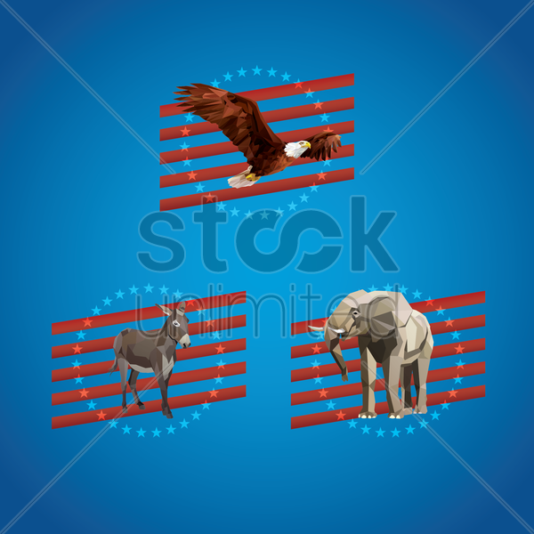Free united states political party posters vector graphic