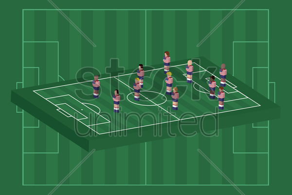 united states team formation vector graphic