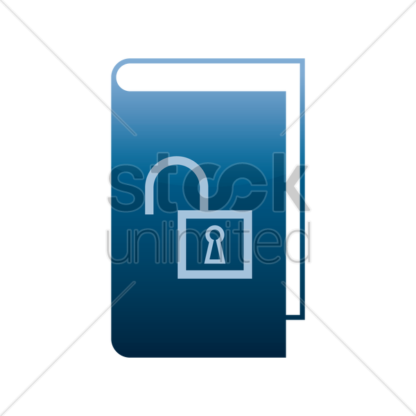 unlock ebook icon vector graphic
