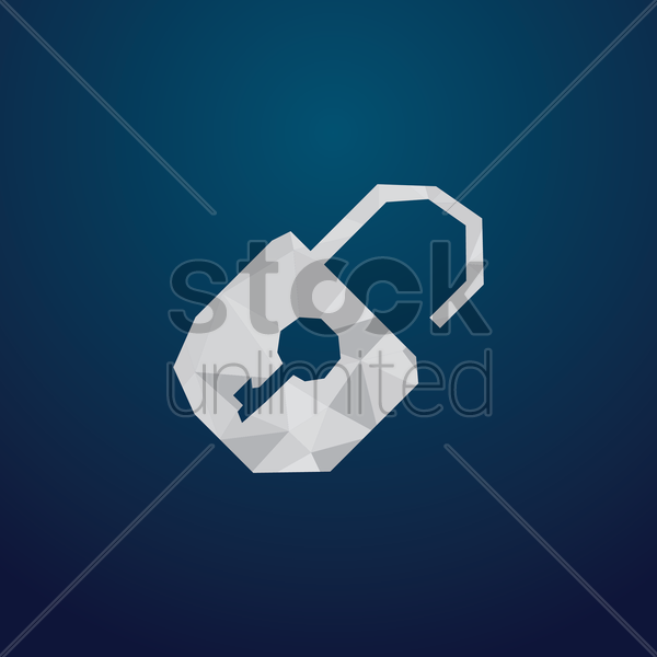 Free unlock icon vector graphic