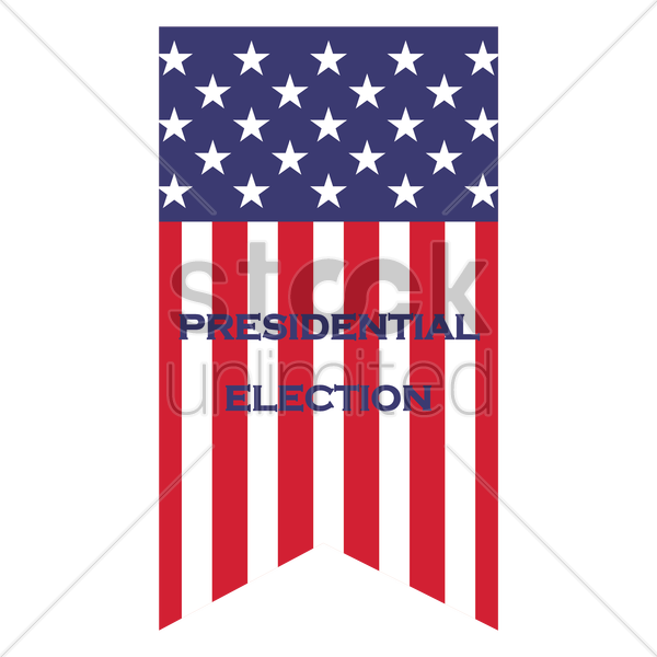 us election flag pennant vector graphic