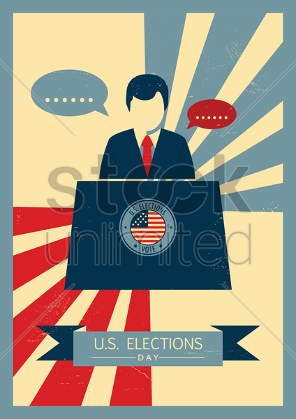us elections poster vector graphic