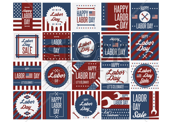 us labor day designs vector graphic