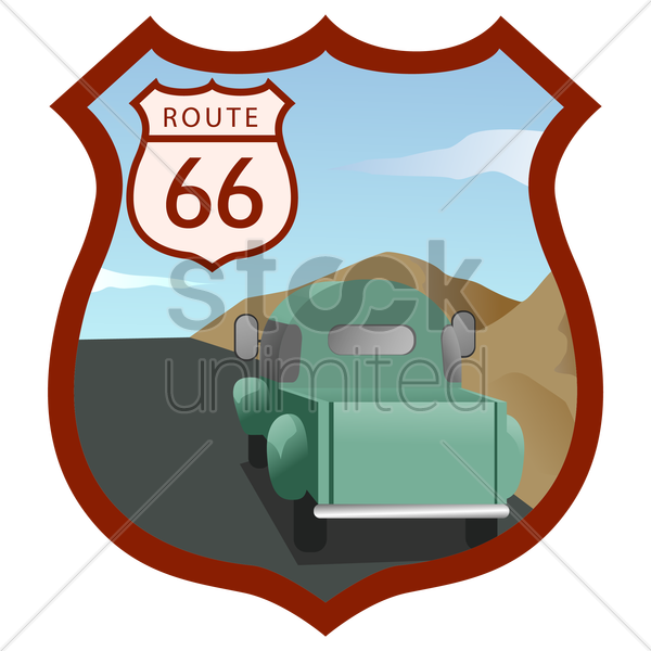 us route 66 vector graphic