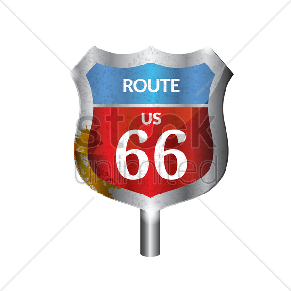 us route signboard vector graphic