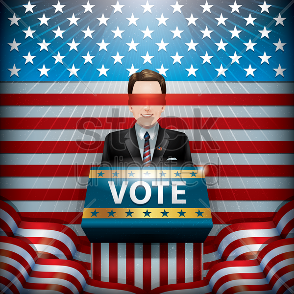 usa election candidate vector graphic