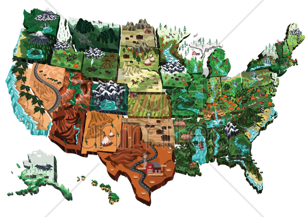 usa map vector graphic