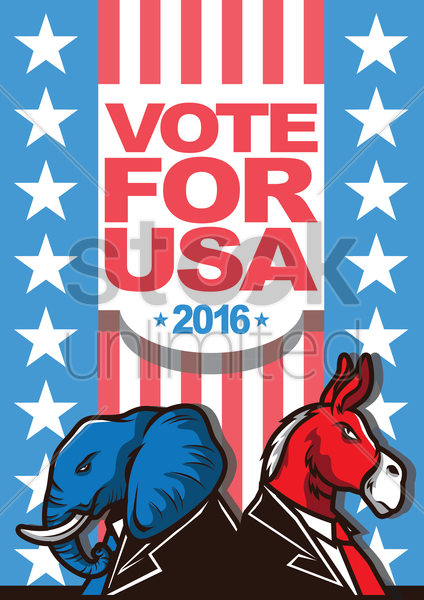 usa presidential election poster vector graphic