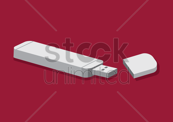 usb flash drive vector graphic