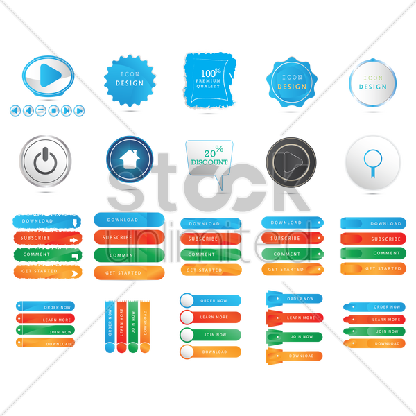 user interface elements vector graphic