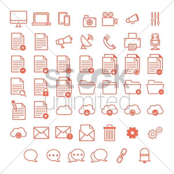 user interface icons vector graphic