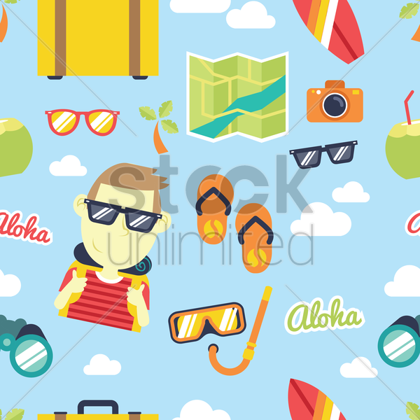 vacation theme background vector graphic