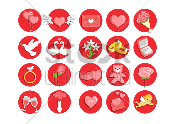 valentine collection vector graphic