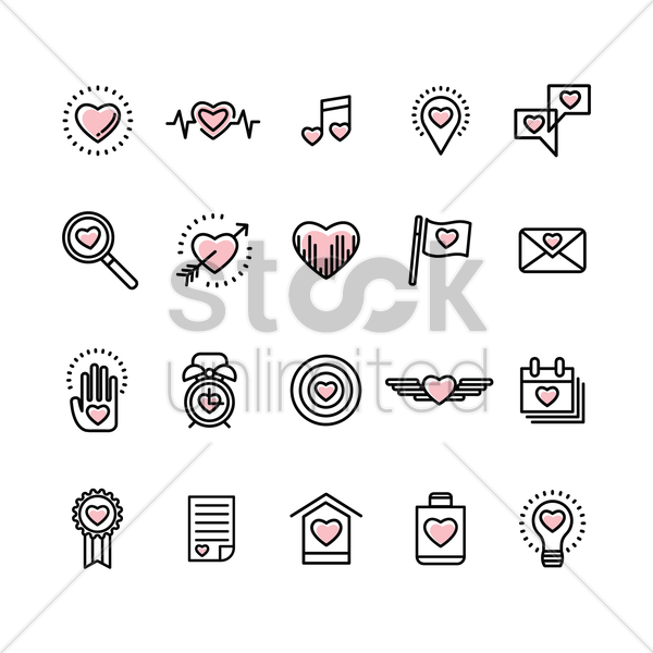 valentine's day collection vector graphic