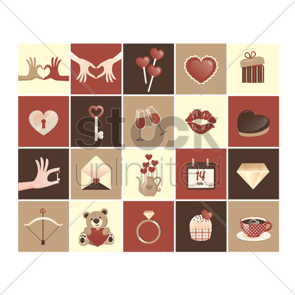 valentine's day icon vector graphic