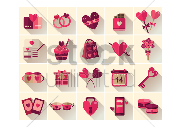 valentines collection vector graphic
