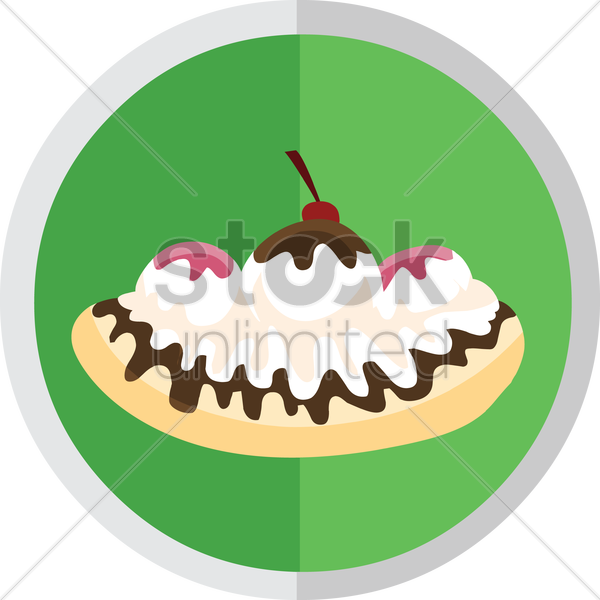 Free vanilla cake with cherry on top vector graphic