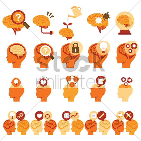 Free various brain related images vector graphic