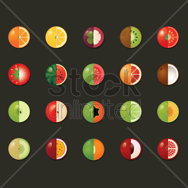 various fruit vector graphic