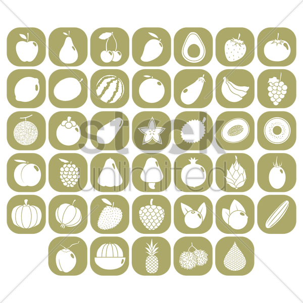 various fruits vector graphic