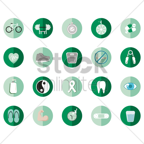 various icons vector graphic