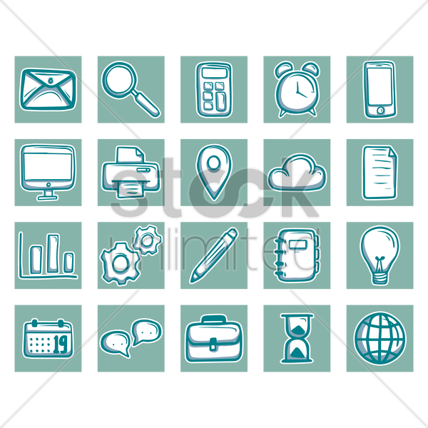 Free various icons vector graphic