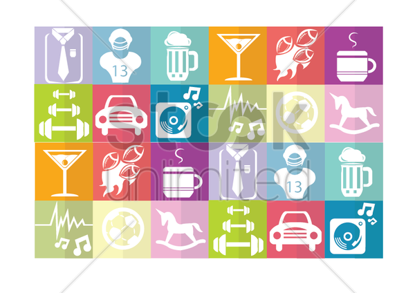 various objects vector graphic