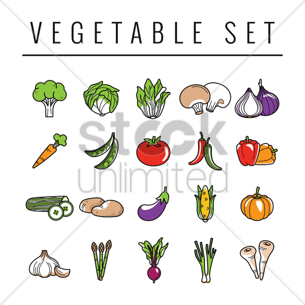 vegetables set vector graphic