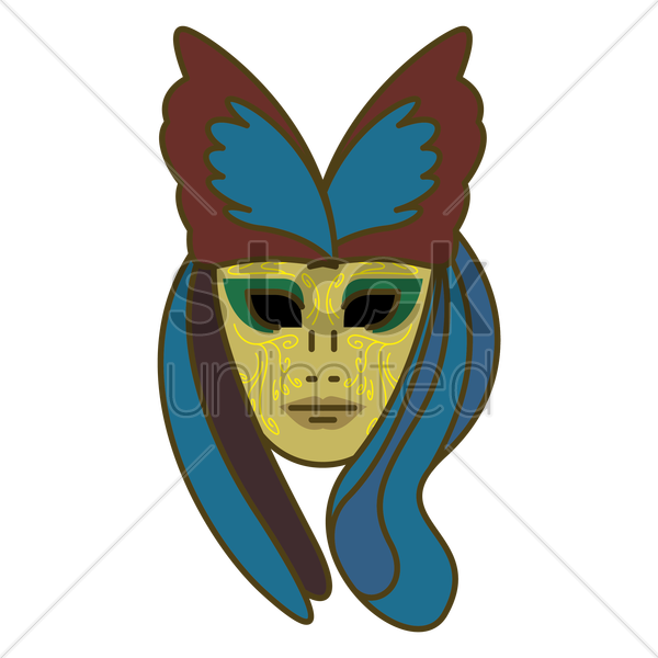 venice mask vector graphic