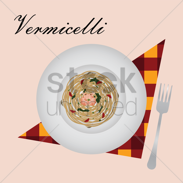 vermicelli vector graphic