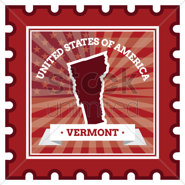 vermont postage stamp vector graphic