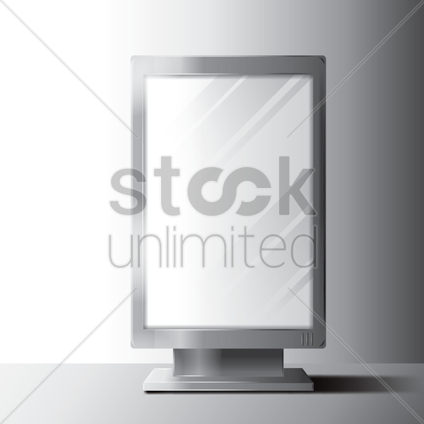 vertical billboard vector graphic