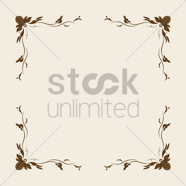 victorian vintage frame vector graphic