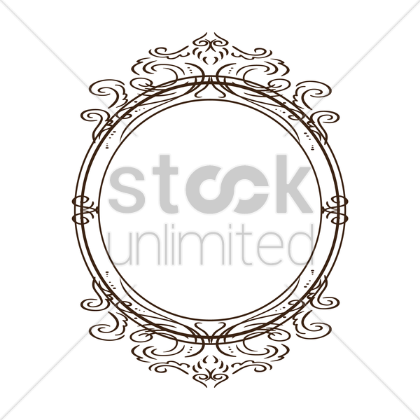 vintage border frame vector graphic