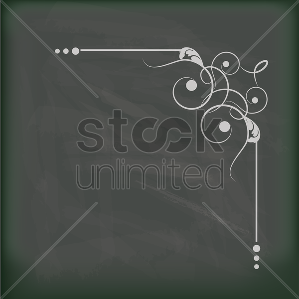 vintage frames on a blackboard vector graphic