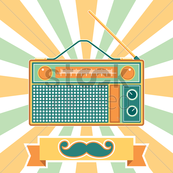 vintage radio vector graphic